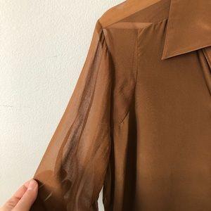 iris setlawke Tops - Pure silk Iris Setlawke button down blouse